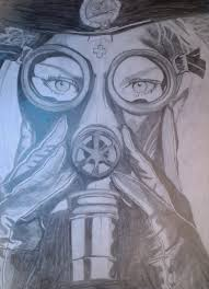 with gas mask by countess lorna on deviantart