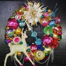 wreath glittermoon vintage christmas