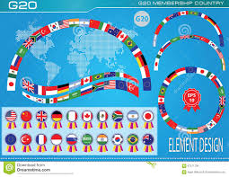 Country Flags Of The World G20 Countries Flags Or Flags Of The World Element Design Stock