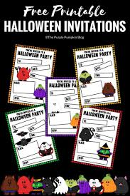 Free Printable Halloween Invitations Kids Crafty October 2017 A Month Of Halloween Ideas