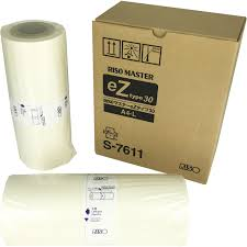 genuine riso ez type 30 a4 l master rolls s 7611 box 2 elmstok