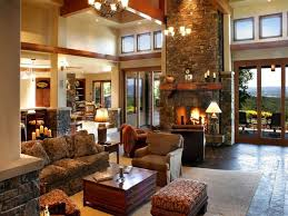 Country Living Home Decor Awesome Country Living Room With Fireplace Design