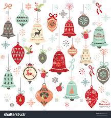 vintage christmas bell design elements stock vector 339071216