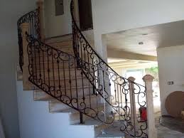 Staircase Banisters Iron Stair Rails And Banisters Beautifying House With Iron Stair