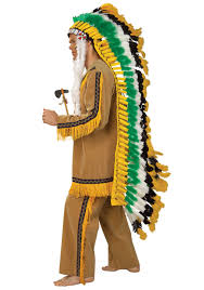 Native Indian Halloween Costumes Full Native American Chief Headdress