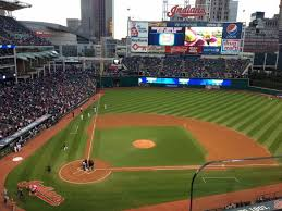 progressive field section 450 row b seat 2 cleveland indians