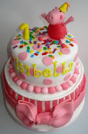 peppa pig birthday cakes 1st birthday cake with peppa pig
