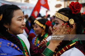 new year attire tamu losar or new year parade in kathmandu pictures getty images