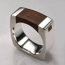 mens rings uk mortice ring in sterling silver thames wood mens rings