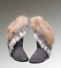 ugg sale grey uggs bailey button maat 23 ugg fox fur boots 8688 grey