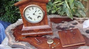 Mantle Clock Repair Clock Parts Vintage Old Mantle Clock Needs Restoration Or For