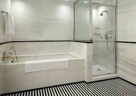 subway tile in bathroom ideas black and white subway tile bathroom ideas homedecoratorspace
