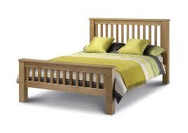 julian bowen amsterdam hfe double 4ft6 american solid oak wood bed