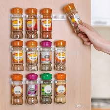 wall spice cabinet with doors online cheap spice rack spice wall storage plastic kitchen organizer