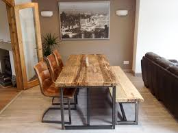 reclaimed wood dining table with bench xtreme wheelz com