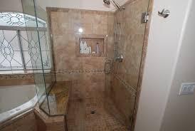 Bathroom Shower With Seat Corner Tub Shower Seat Master Bathroom Reconfiguration Yorba