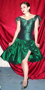 80s Prom Dress Lucky Emerald Green Lacy 80s Prom Dress Extra Small Flickr