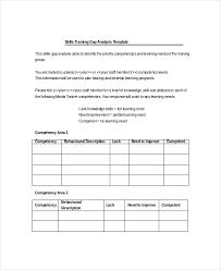 Gap Analysis Template Excel Gap Analysis Template 5 Free Word Excel Pdf