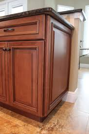 Two Tone Kitchen Cabinet Doors Fabuwood Wellington Cinnamon Glaze Wainscot Panel Kitchen