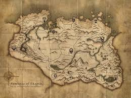 on this skyrim map what do the red crosses mark the elder