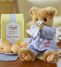 get well soon bears delivery bearington get well with cookies 1800flowers 89858