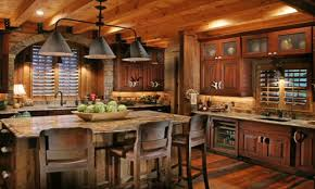 rustic modern kitchen cabinets log home kitchens islands rustic
