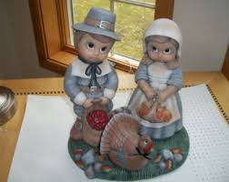 thanksgiving pilgrim figurines 10 inch thanksgiving pilgrim etsy