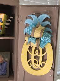 Pineapple Decorations For Kitchen by Pineapple Monogram Camper Door Decor Kitchen Monogram