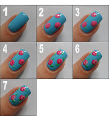nail art rose nail art easy salon for girlsblue artblack arteasy