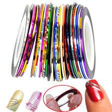 30pcs mixed colors rolls striping tape line diy nail art tips
