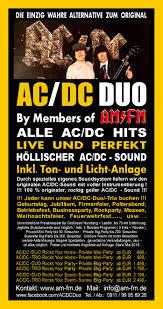 polterabend flyer the ac dc show by am fm 100 prozent originaler geiler ac dc