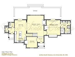 open great room floor plans new south classics cottage on avon