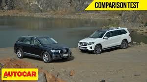 lexus lx 570 vs mercedes benz gl 550 audi q7 vs mercedes benz gls comparison test autocar india