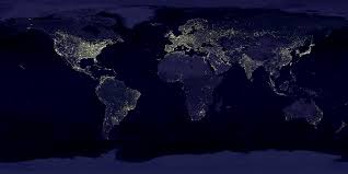 World Map Image by City Lights Space World Map