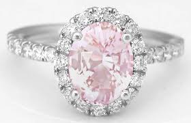 light pink engagement rings rare pink sapphire and halo ring in 14k from myjewelrysource