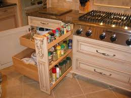 Narrow Pull Out Spice Rack Installing Rollout Shelves