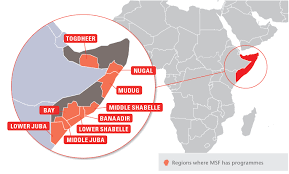 Map Of Somalia Somalia Médecins Sans Frontières Msf International