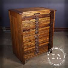 Wood Flat File Cabinet by Vintage Industrial 25 Drawer Hamilton Flat File Printers Cabinet