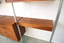 Desk Wall System Three Bay George Nelson Omni Storage System Desk Wall Unit At 1stdibs