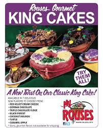 rouses gourmet king cakes red velvet cream cheese german
