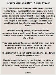 yizkor prayer in ben gurion of the negev israeli fallen soldiers and