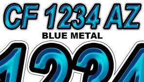 bluemetal boat registration numbers and letters decals vinyl names