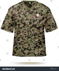 camouflage tshirt design template sample print stock vector