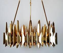 Contemporary Chandelier Contemporary Chandelier Brass Steel Acrylic Palermo Zia