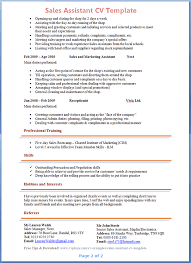 sales assistant resume sales assistant resume tomyumtumweb