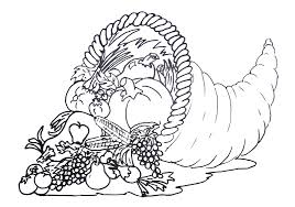 free printable cornucopia pattern craft coloring pages