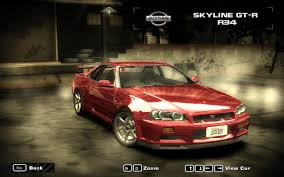 Nissan Gtr R34 - need for speed most wanted nissan skyline gt r r34 v2 nfscars