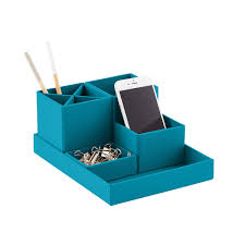 Blue Desk Accessories Bigso Turquoise Stockholm Desktop Organizer The Container Store