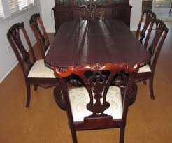 for sale 9 foot long mahogany dining room table china cabinet