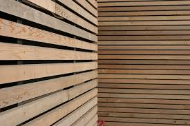 lovely modern wood slat wall architecture